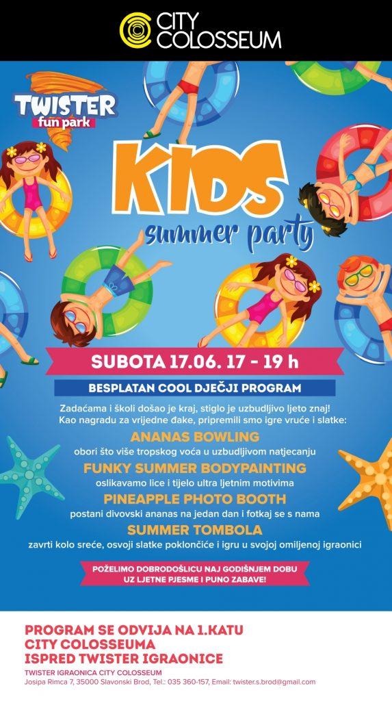 city colosseum KIDS SUMMER PARTY 70 x 125 cm 9-11 12-01